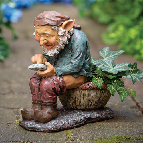 Texting Elf Planter