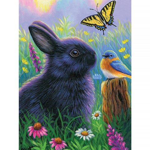 Morning In Bunny's Garden 300 Large Piece Jigsaw Puzzle