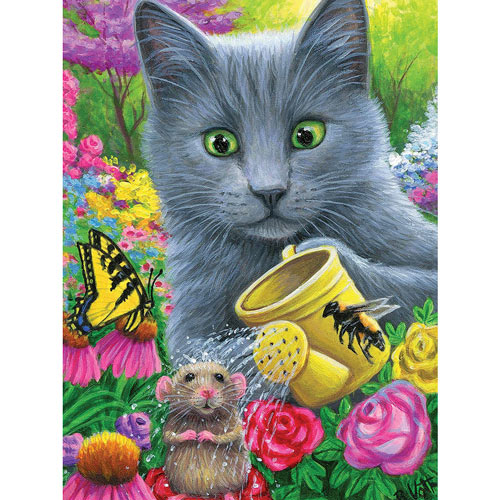 Chillin In Misty's Garden 300 Large Piece Jigsaw Puzzle