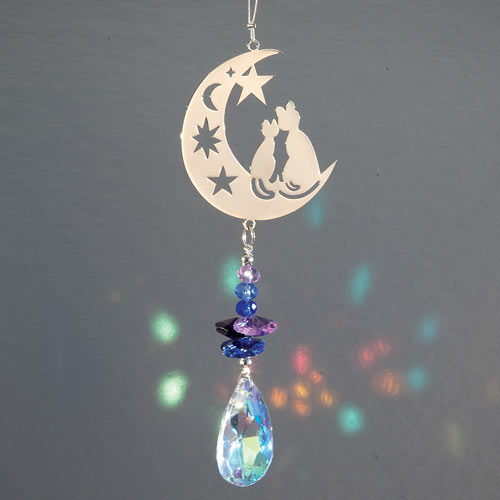 Crystal Cats Suncatcher