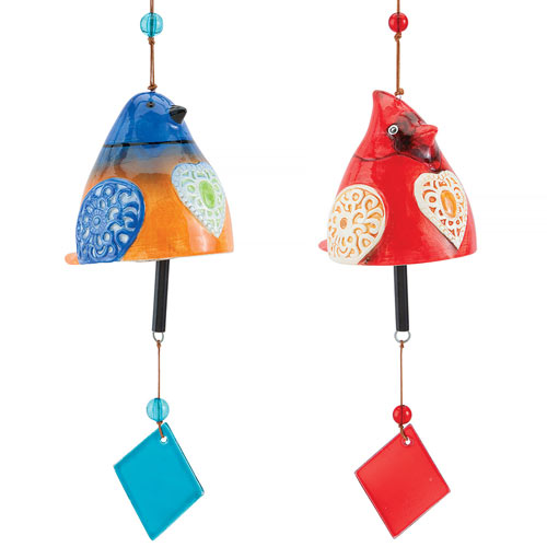 Set of 2: Bluebird & Cardinal Chimes