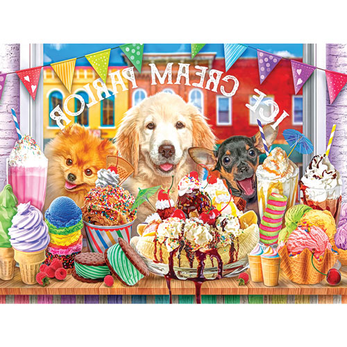 Ice Cream Parlour Pups 500 Piece Jigsaw Puzzle