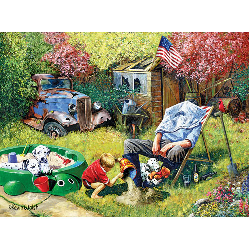 A Day With Grandpa 1000 Piece Jigsaw Puzzle