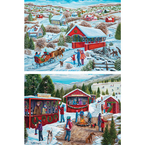 Set of 2: Christine Carey 500 Piece Jigsaw Puzzles