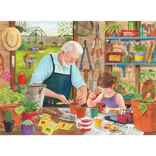Grandad's Garden Sowing Seeds 500 Piece Jigsaw Puzzle