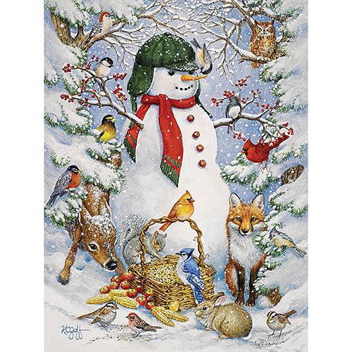 Woodland Snowman 300 Large Piece Jigsaw Puzzle