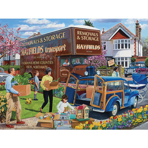 Meadow Blue 300 Large Piece Round Jigsaw Puzzle