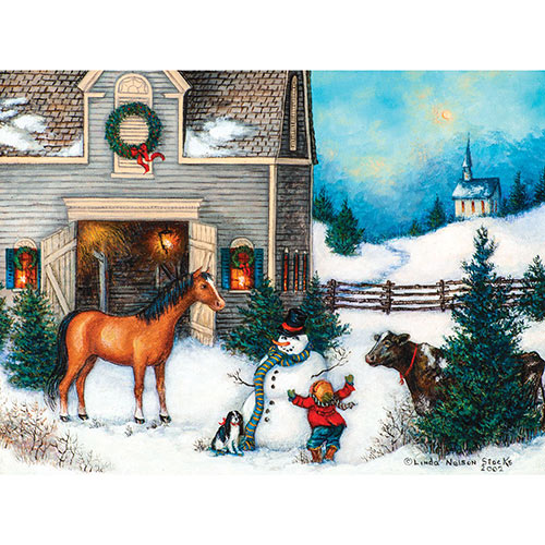 Best Snowman Ever 1000 Piece Jigsaw Puzzle