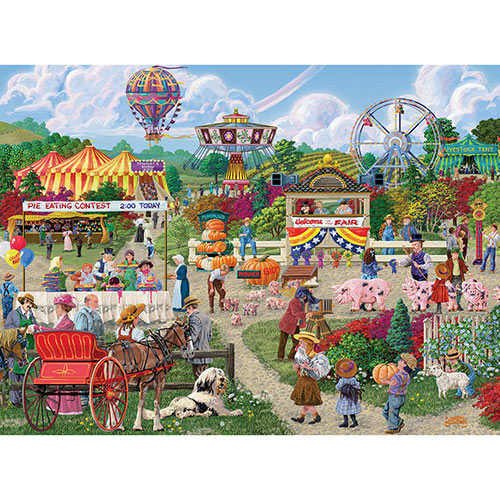 The Fairgoers 1000 Piece Jigsaw Puzzle