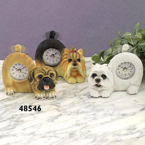 Pug Table Clock