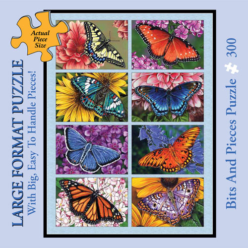 Butterflies & Blooms 300 Large Piece Jigsaw Puzzle
