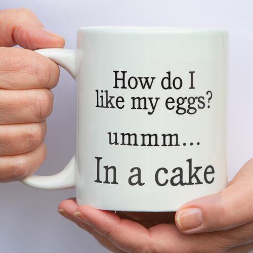 How do I Like My Eggs Jumbo Mug