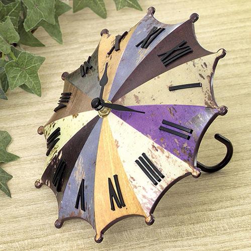Rainbow Umbrella Clock
