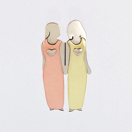 Friends Forever Pin 2 Women Jewellery