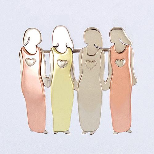 Friends Forever Pin 4 Women Jewellery