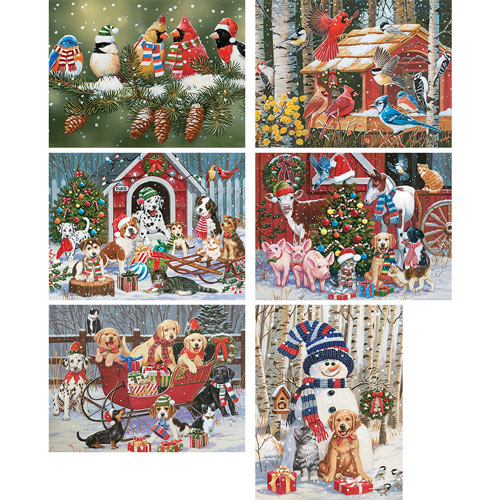 Set of 6: William Vanderdasson 300 Large Piece Jigsaw Puzzles
