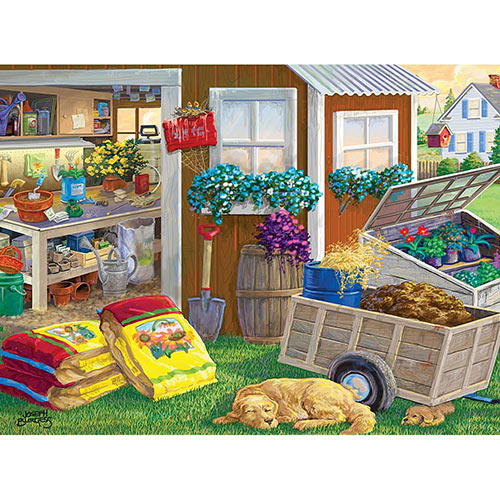 Summer Planting Shed 300 Large Piece Jigsaw Puzzle