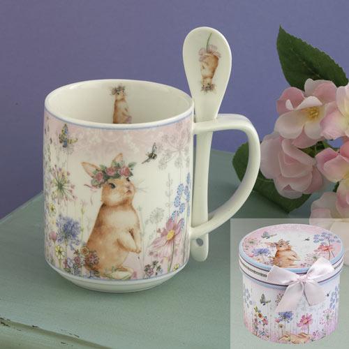 Bunny Mug With Spoon Set