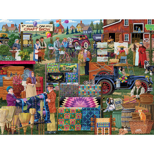 Oak Hill Craft Show 300 Large Piece Jigsaw Puzzle