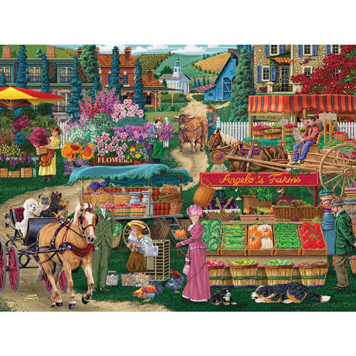Angelo's Farmers Market 300 Large Piece Jigsaw Puzzle