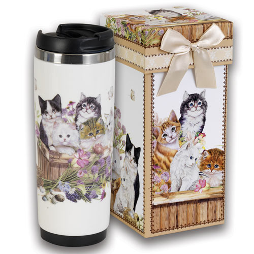 Cats In A Basket Travel Mug