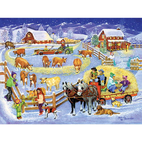 Winter Hayride 300 Large Piece Jigsaw Puzzle