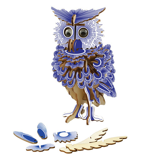 Three Dimensional Owl Puzzle