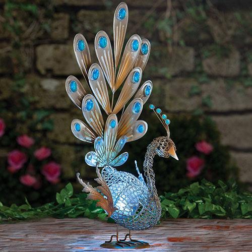 Sparkling Solar Peacock