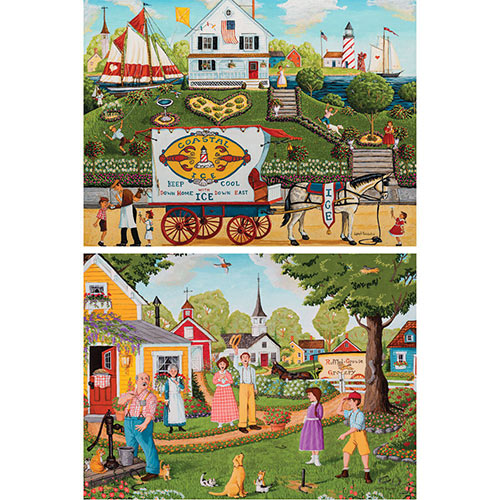 Set of 2: Pre-Boxed Joseph Holodook 500 Piece Jigsaw Puzzles