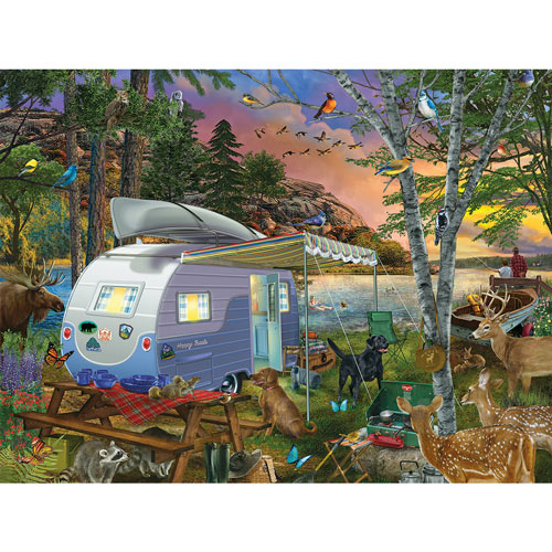 Camp Site Watch Dogs 300 Large Piece Jigsaw Puzzle