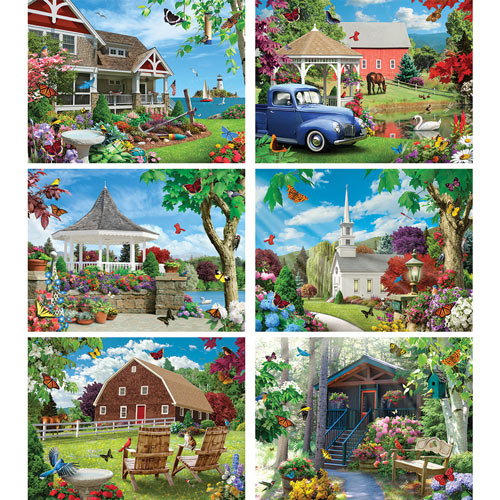 Set of 6: Alan Giana 300 Large Piece Jigsaw Puzzle