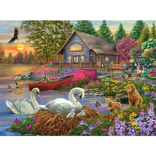 Settling In 1000 Piece Jigsaw Puzzle