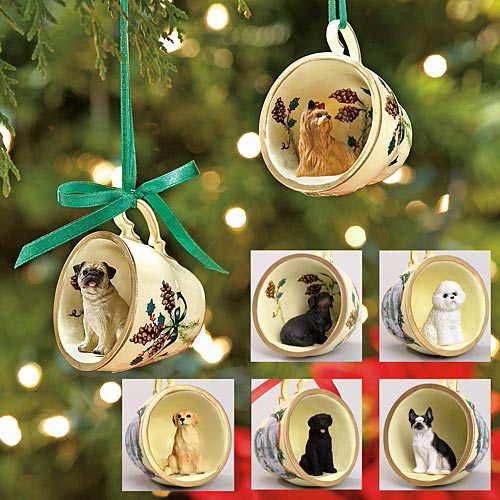 Dog Breed Teacup Ornament