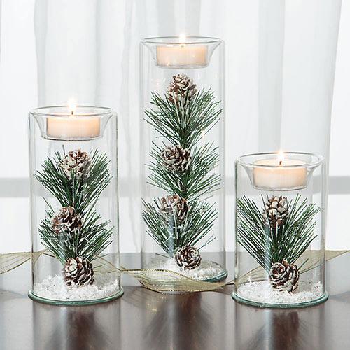 Set of 3: Winter Tea Lights