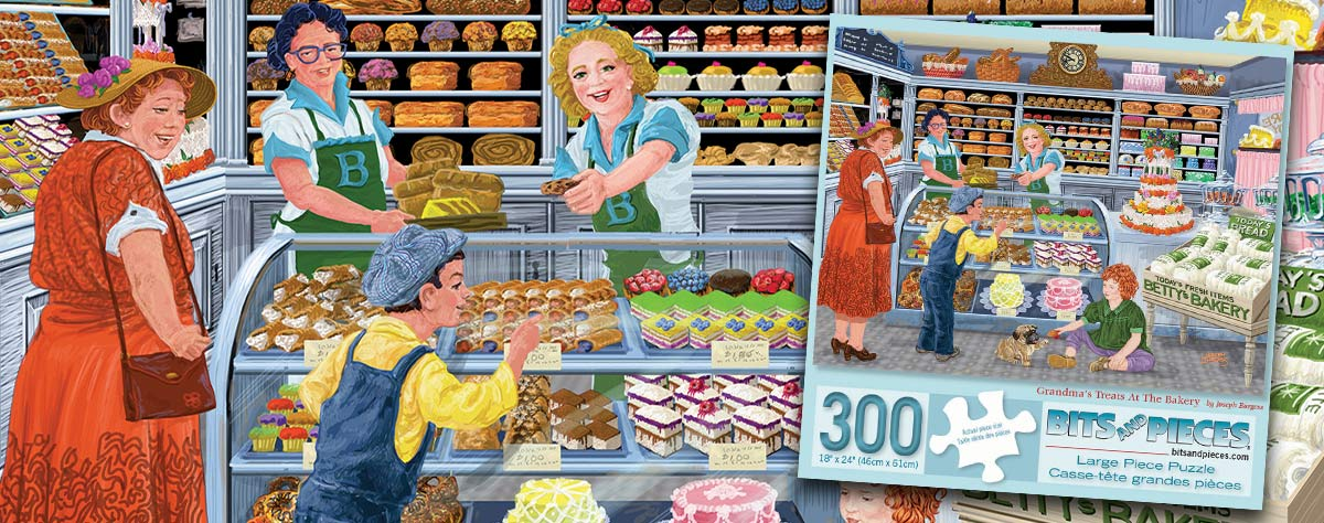 Grandma's Treats At The Bakery 300 Large Piece Jigsaw Puzzle