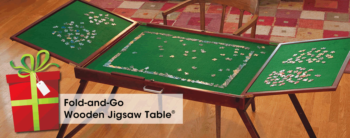 Fold-and-Go Wooden Jigsaw Table