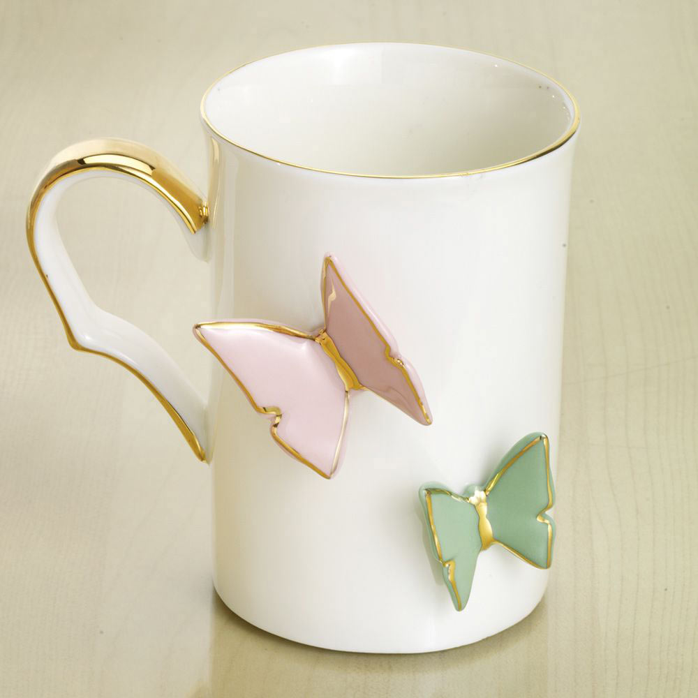 92cd63825f6 Floating Butterflies Mug   Bits and Pieces UK