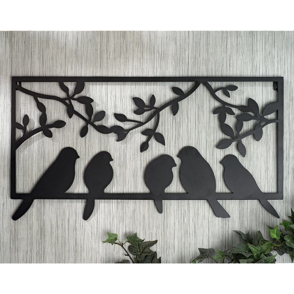 Perched Birds Metal Wall Art Bits And Pieces Uk