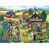 Farmer Fred's Petting Pen 500 Piece Jigsaw Puzzle