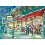 Candy Cane Lane 1000 Piece Glow-In-The-Dark Jigsaw Puzzle