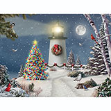 Coastal Holiday Lights 300 Large Piece Jigsaw Puzzle