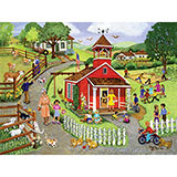 Country Schoolhouse 300 Large Piece Jigsaw Puzzle