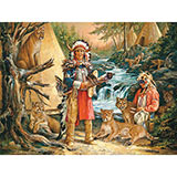 Honoring The Spirits 300 Large Piece Native American Jigsaw Puzzle
