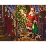 Children Watching Santa 500 Piece Jigsaw Puzzle
