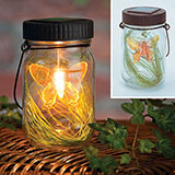 Solar LED Butterfly Jar