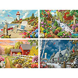 Set of 4: Alan Giana 1000 Piece Jigsaw Puzzle