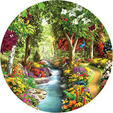 Morning Daydream 500 Piece Round Jigsaw Puzzle