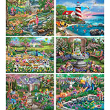 Set of 6: Mary Thompson 300 Large Piece Puzzles