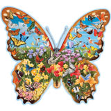 Hidden Butterfly Meadow 750 Piece Shaped Jigsaw Puzzle