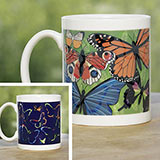 Mysterious Colour Changing Butterfly Mug